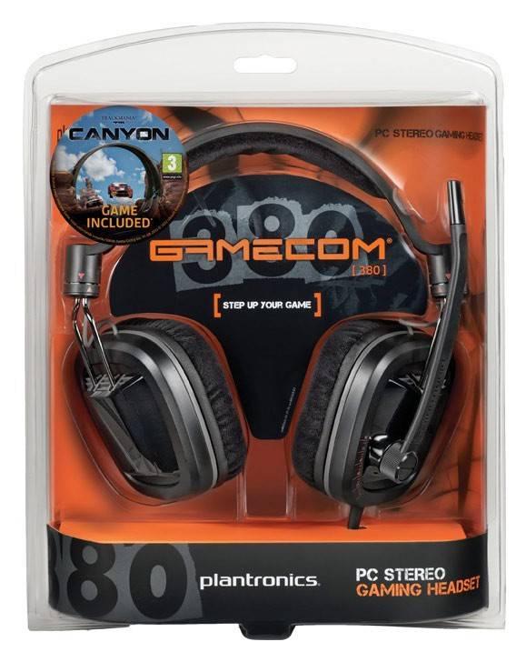 Наушники с микрофоном Plantronics Gamecom GC380 черный - фото 2