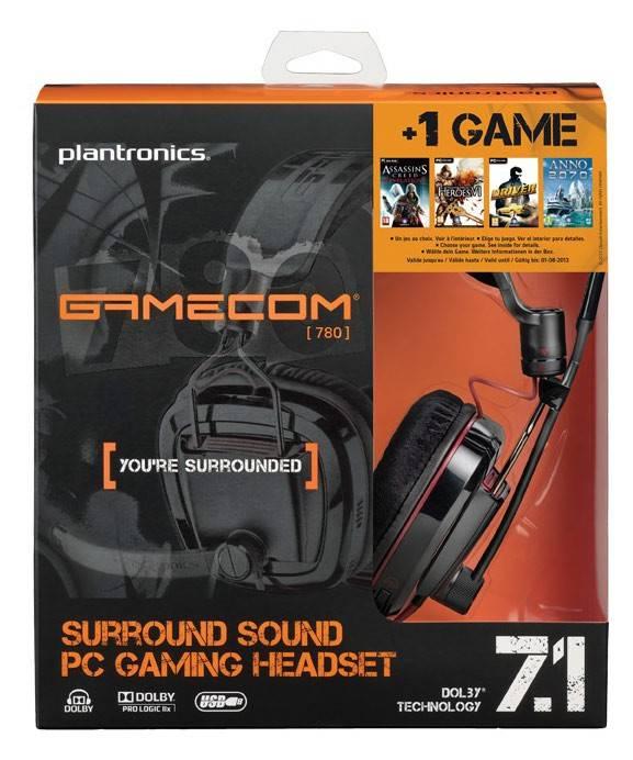 Наушники с микрофоном Plantronics GameCom 780 черный - фото 2