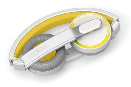 Наушники с микрофоном Rapoo H6080 желтый - фото 1