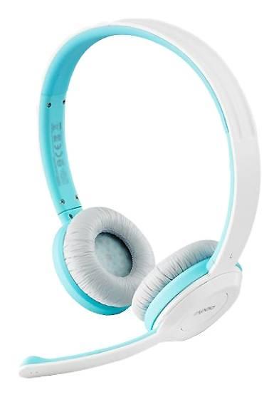 Наушники с микрофоном Rapoo H8030 белый/голубой - фото 1