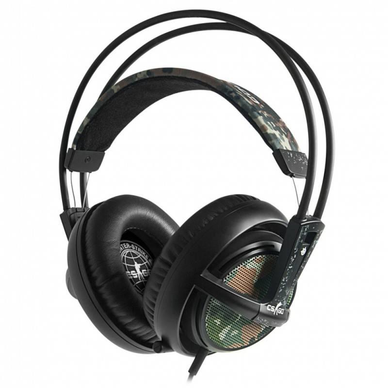 Наушники с микрофоном Steelseries Siberia v2 Counter Strike черный/коричневый - фото 1