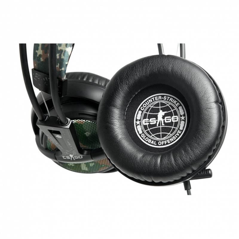 Наушники с микрофоном Steelseries Siberia v2 Counter Strike черный/коричневый - фото 2