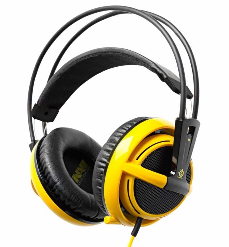 Наушники с микрофоном Steelseries Siberia v2 NAVI edition черный/желтый - фото 1