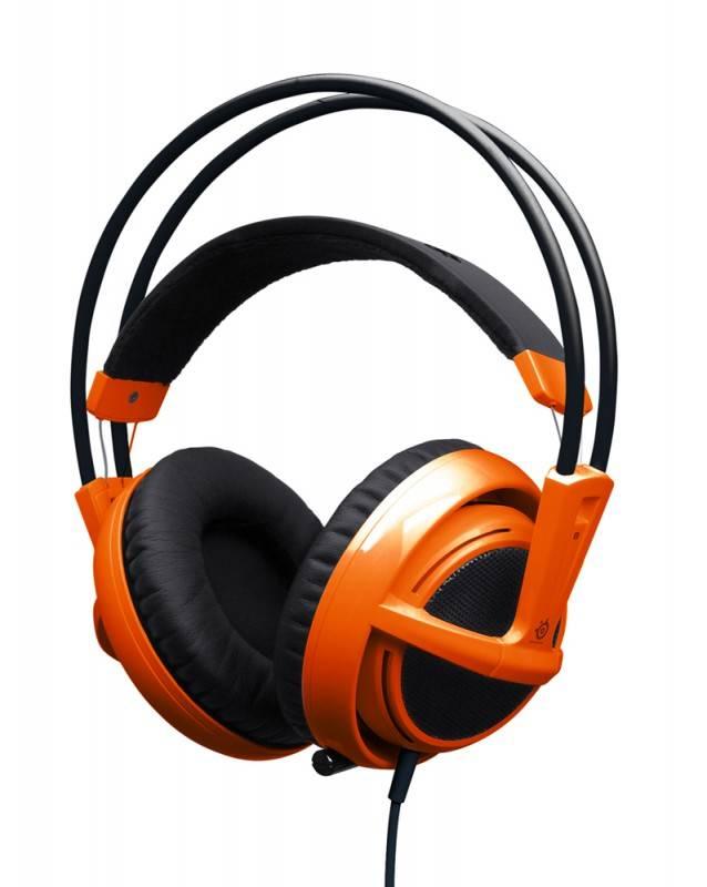 Наушники с микрофоном Steelseries Siberia V2 Full-Size Headset (51106) оранжевый - фото 1