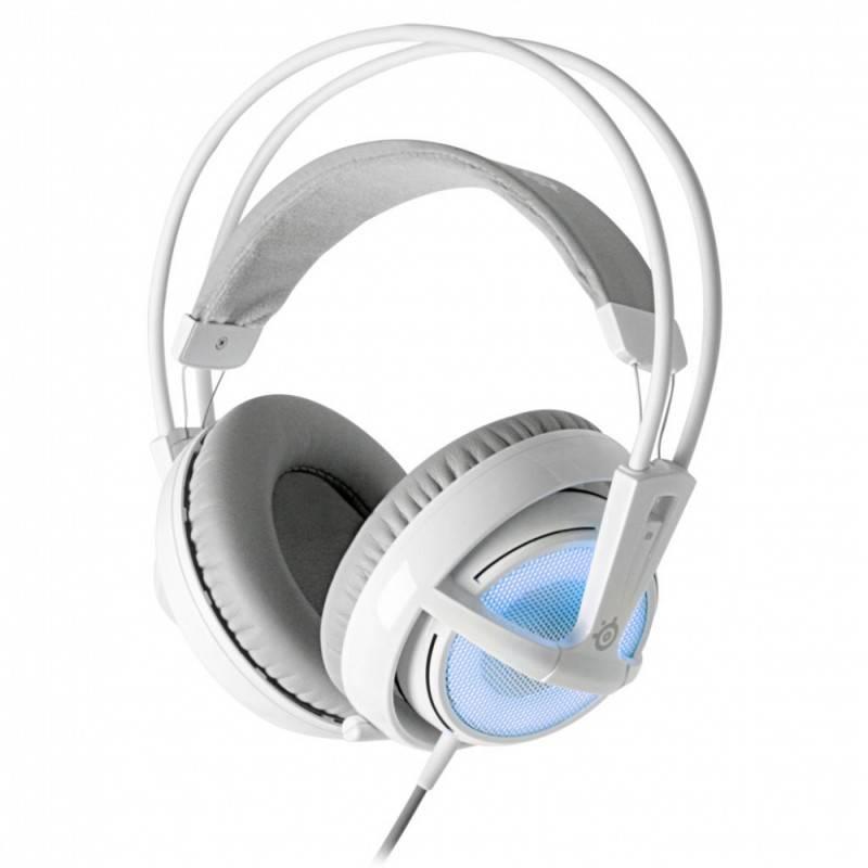 Наушники с микрофоном Steelseries Siberia v2 Frost Blue белый/голубой - фото 1
