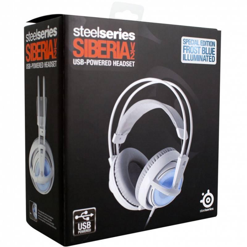 Наушники с микрофоном Steelseries Siberia v2 Frost Blue белый/голубой - фото 4