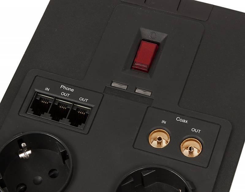 Сетевой фильтр Cyberpower SB0701AD 1.8м черный - фото 5