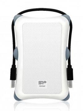 Внешний жесткий диск 1Tb Silicon Power A30 SP010TBPHDA30S3W Armor белый USB 3.0 (SP010TBPHDA30S3W) - фото 1