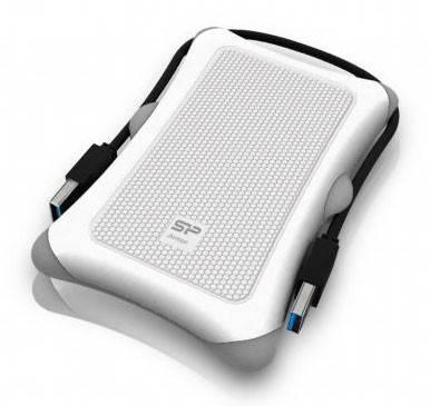 Внешний жесткий диск 1Tb Silicon Power A30 SP010TBPHDA30S3W Armor белый USB 3.0 (SP010TBPHDA30S3W) - фото 2