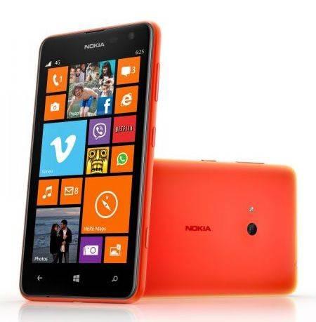 Смартфон Nokia Lumia 625 оранжевый - фото 1