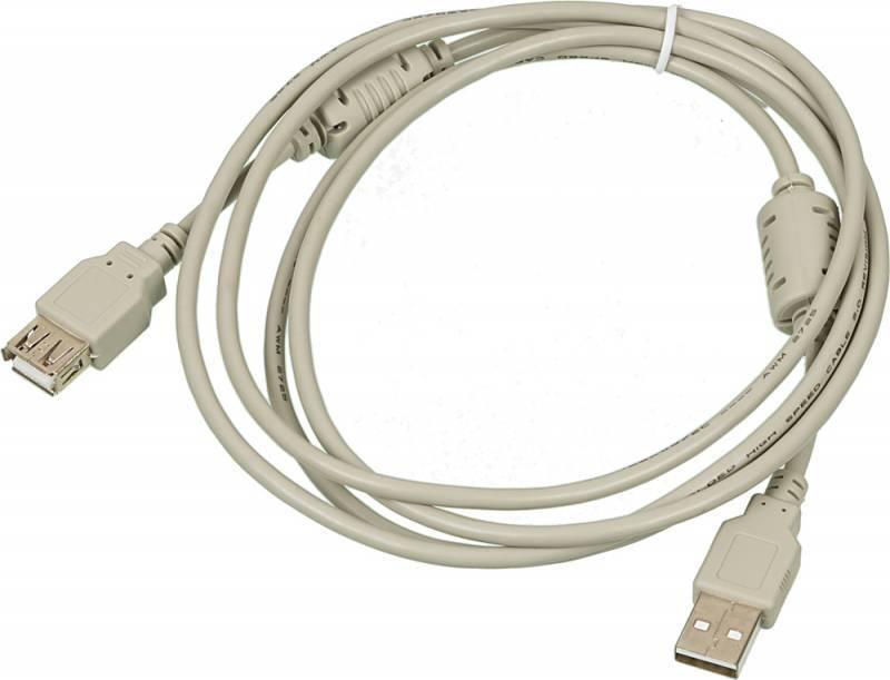 Кабель-удлинитель USB2.0-AM-AF-1.8M-MG USB A(m)/USB A(f) 1.8м. - фото 1