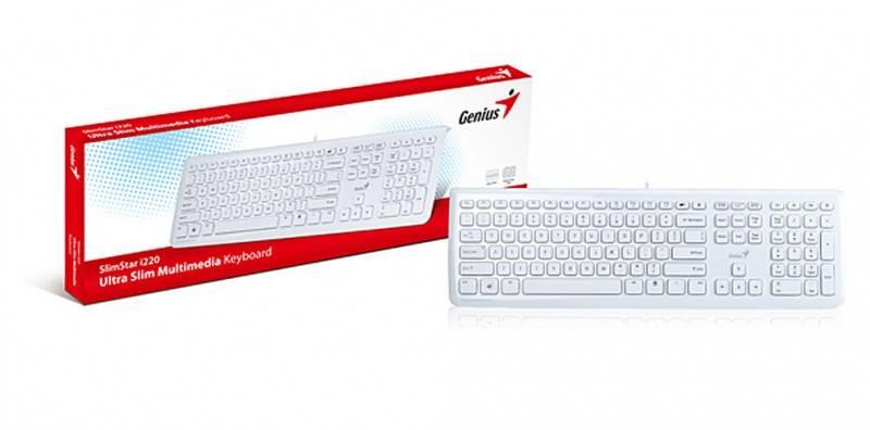 Клавиатура Genius SlimStar i220 белый - фото 4