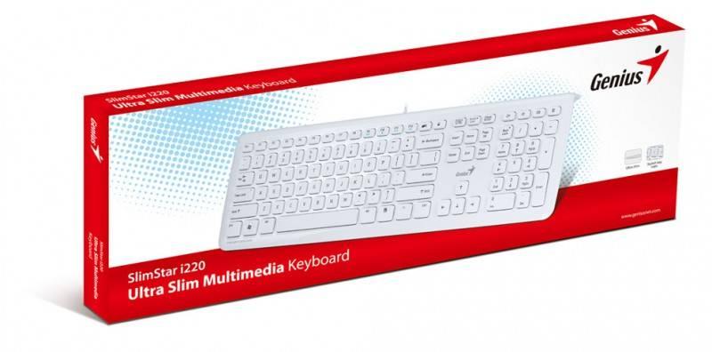 Клавиатура Genius SlimStar i220 белый - фото 5