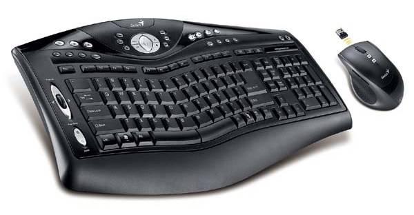Комплект клавиатура+мышь Genius Ergomedia 8000 черный/черный - фото 1