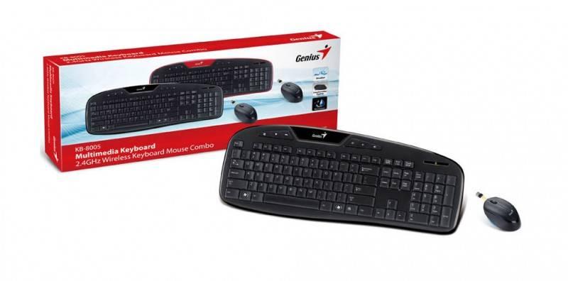 Комплект клавиатура+мышь Genius KB-8005 черный/черный - фото 2