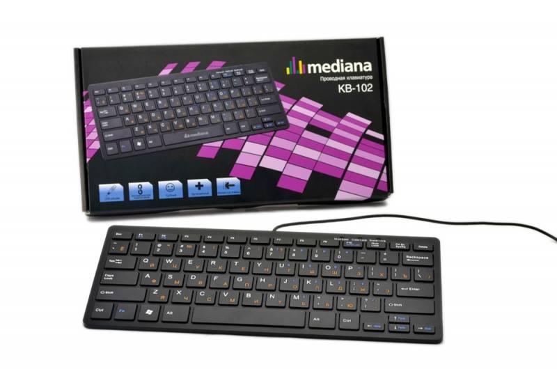 Клавиатура Mediana KB-102 черный - фото 1