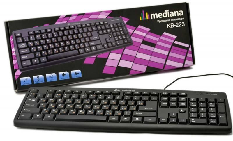 Клавиатура Mediana KB-223 black USB - фото 1