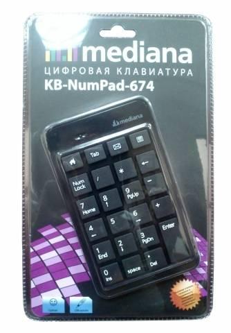 Числовой блок Mediana KB-NumPad-674 черный - фото 1