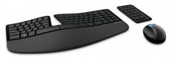 Комплект клавиатура+мышь Microsoft Sculpt Ergonomic черный/черный (L5V-00017)