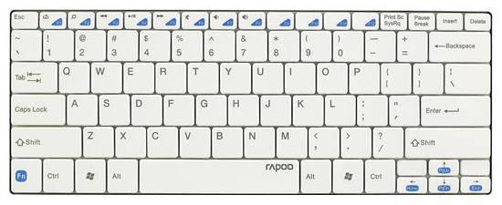 Клавиатура Rapoo E6100 белый - фото 1
