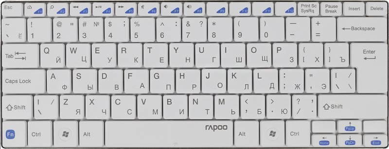 Клавиатура Rapoo E6100 белый - фото 4