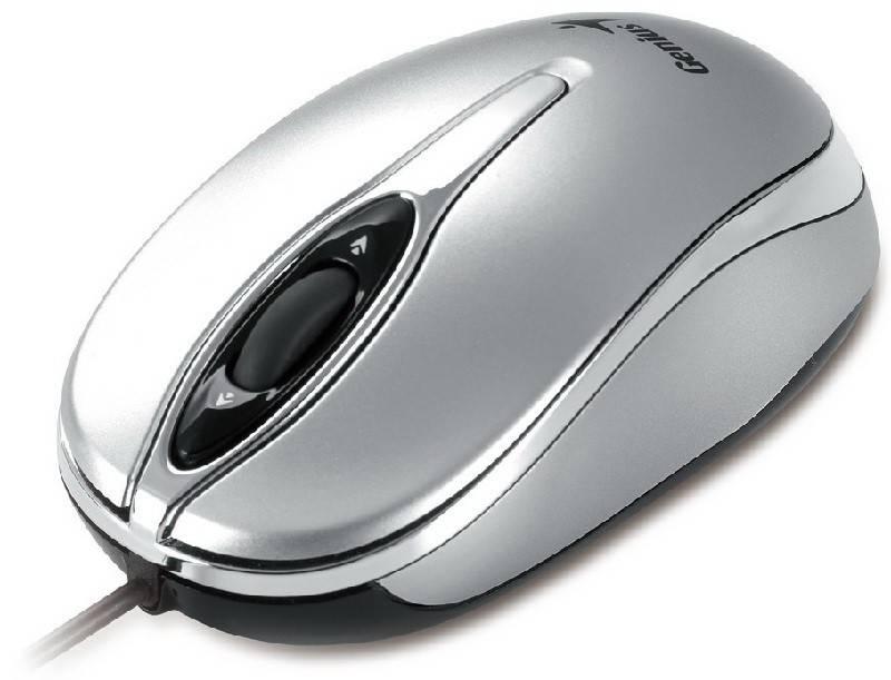 Мышь Genius Traveler 320 серебристый - фото 2