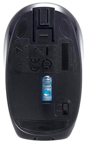 Мышь Genius Traveler 9000LS черный/синий - фото 5