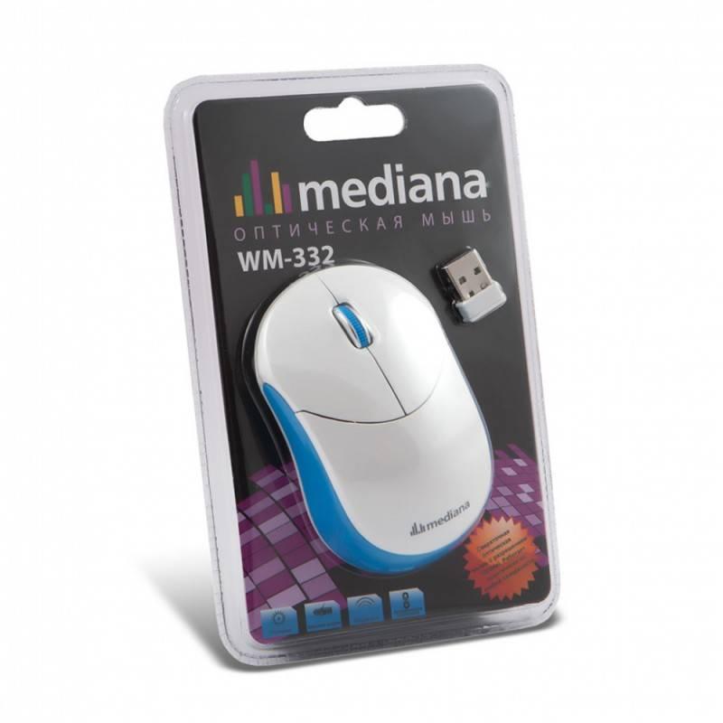 Мышь Mediana WM-332 белый/красный - фото 5
