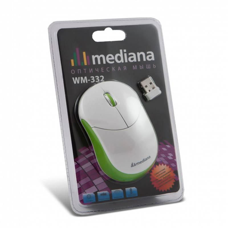 Мышь Mediana WM-332 белый/красный - фото 6