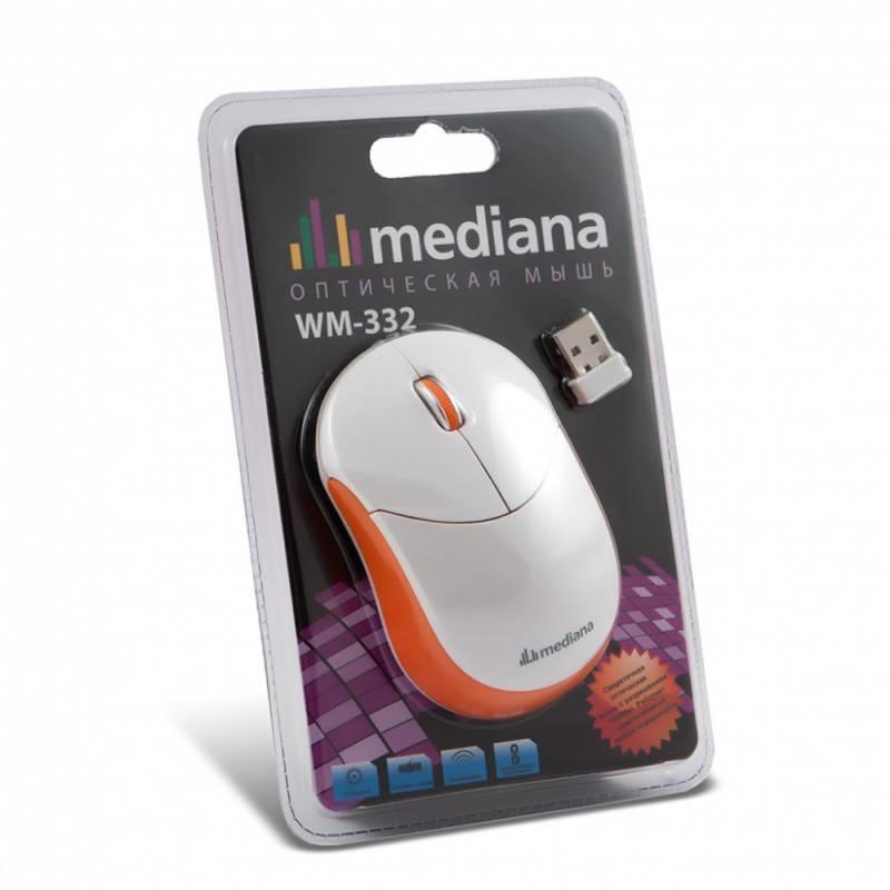 Мышь Mediana WM-332 белый/красный - фото 7