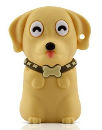 Флеш диск 4Gb Bone Dog USB желтый - фото 1