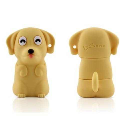 Флеш диск 4Gb Bone Dog USB желтый - фото 4