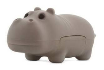 Флеш диск 4Gb Bone Hippo USB серый - фото 1