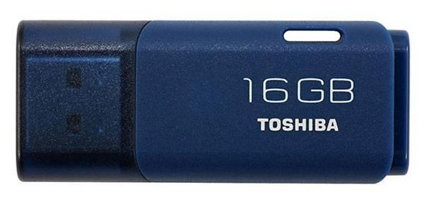 Флеш диск 16Gb Toshiba TransMemory Hayabusa USB2.0 синий - фото 1