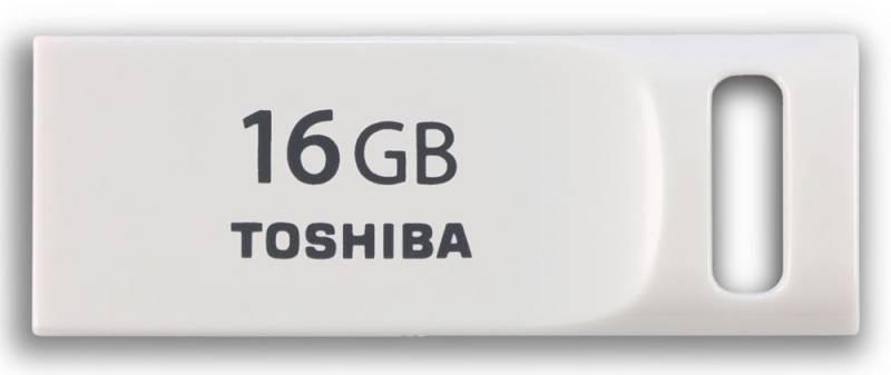 Флеш диск Toshiba Suruga Mini 16ГБ USB2.0 белый - фото 1