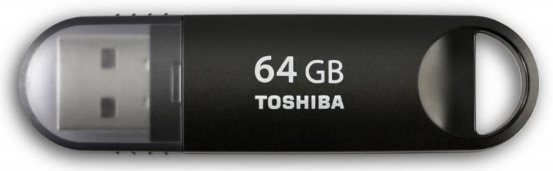 Флеш диск Toshiba Suzaku 64ГБ USB3.0 черный - фото 1