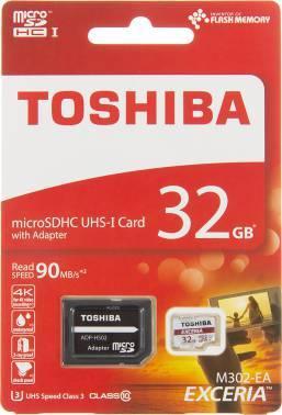 Карта памяти microSDHC 32Gb Class10 Toshiba M302 THN-M302R0320EA