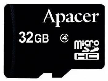 Карта памяти microSDHC 32Gb Class4 Apacer AP32GMCSH4-RA