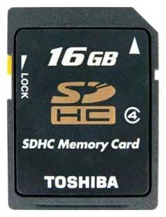 Карта памяти SDHC 16Gb Class4 Toshiba SD-K16GJ(6 - фото 1