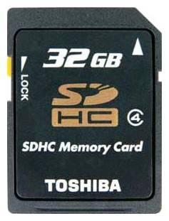 Карта памяти SDHC 32Gb Class4 Toshiba SD-K32GJ(6