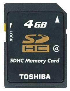 Карта памяти SDHC 4Gb Class4 Toshiba SD-K04GJ(6 - фото 1