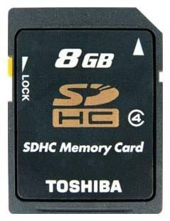 Карта памяти SDHC 8Gb Class4 Toshiba N102 THN-N102K0080M4 - фото 1