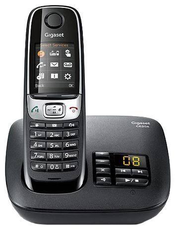 Телефон Gigaset C620A черный - фото 1