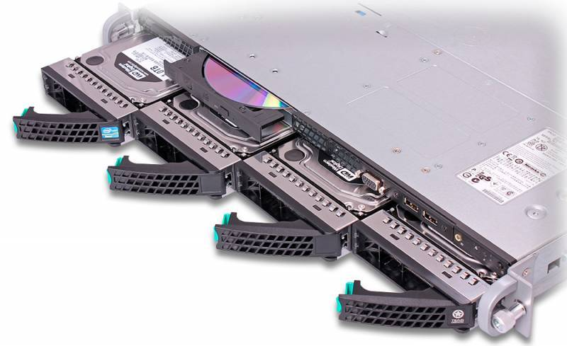"Платформа Intel Original R1304SP4SHOC x4 3.5""/2x450W max2/1xLGA1356, 6xDIMM/4xRJ-45/1U (R1304SP4SHOC - фото 6"