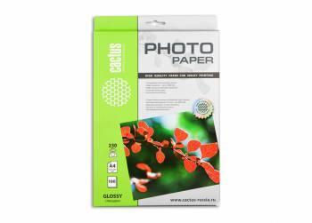 Фотобумага Cactus (CS-GA4230100) A4 / 230г / м2 / 100л. белый