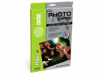 Фотобумага Cactus (CS-GA423020) A4 / 230г / м2 / 20л. белый