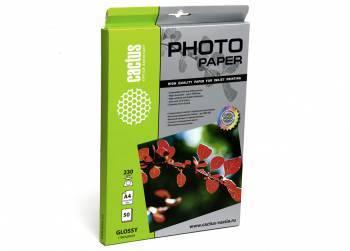Фотобумага Cactus (CS-GA423050) A4 / 230г / м2 / 50л. белый