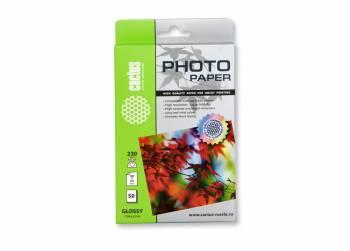 Фотобумага Cactus (CS-GA623050) 10x15 / 230г / м2 / 50л. белый
