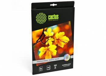 Фотобумага Cactus Prof (CS-HGA426020) A4 / 260г / м2 / 20л. белый