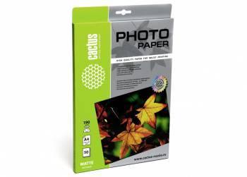 Фотобумага Cactus (CS-MA419050) A4 / 190г / м2 / 50л. белый